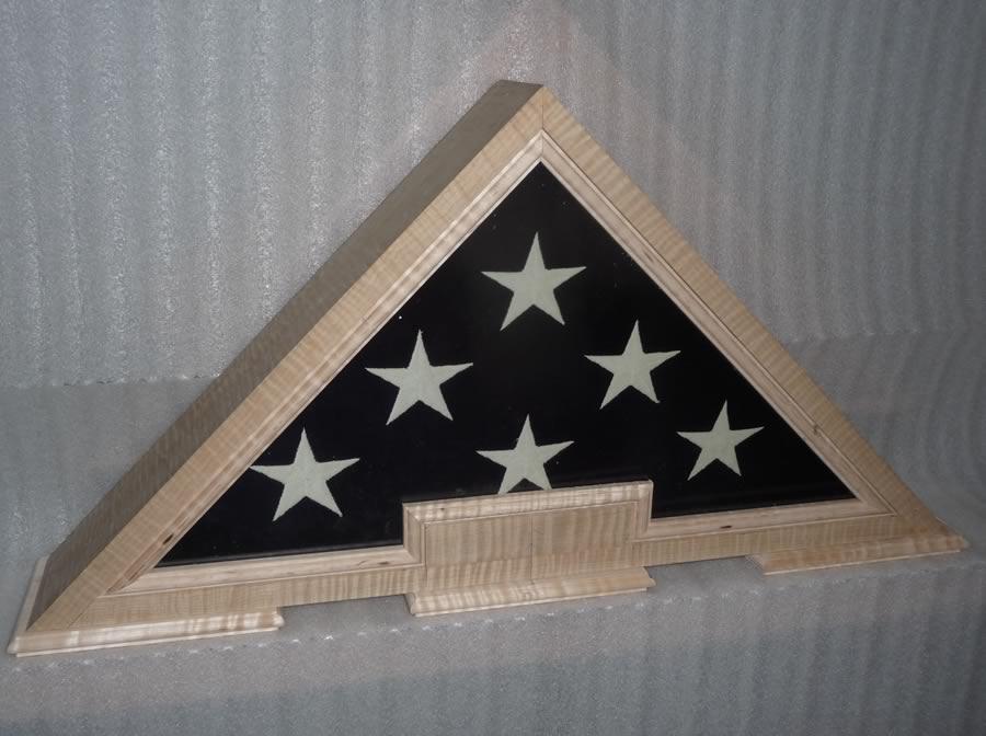 Custom designed with premium figured hard woods US Flag Display ...