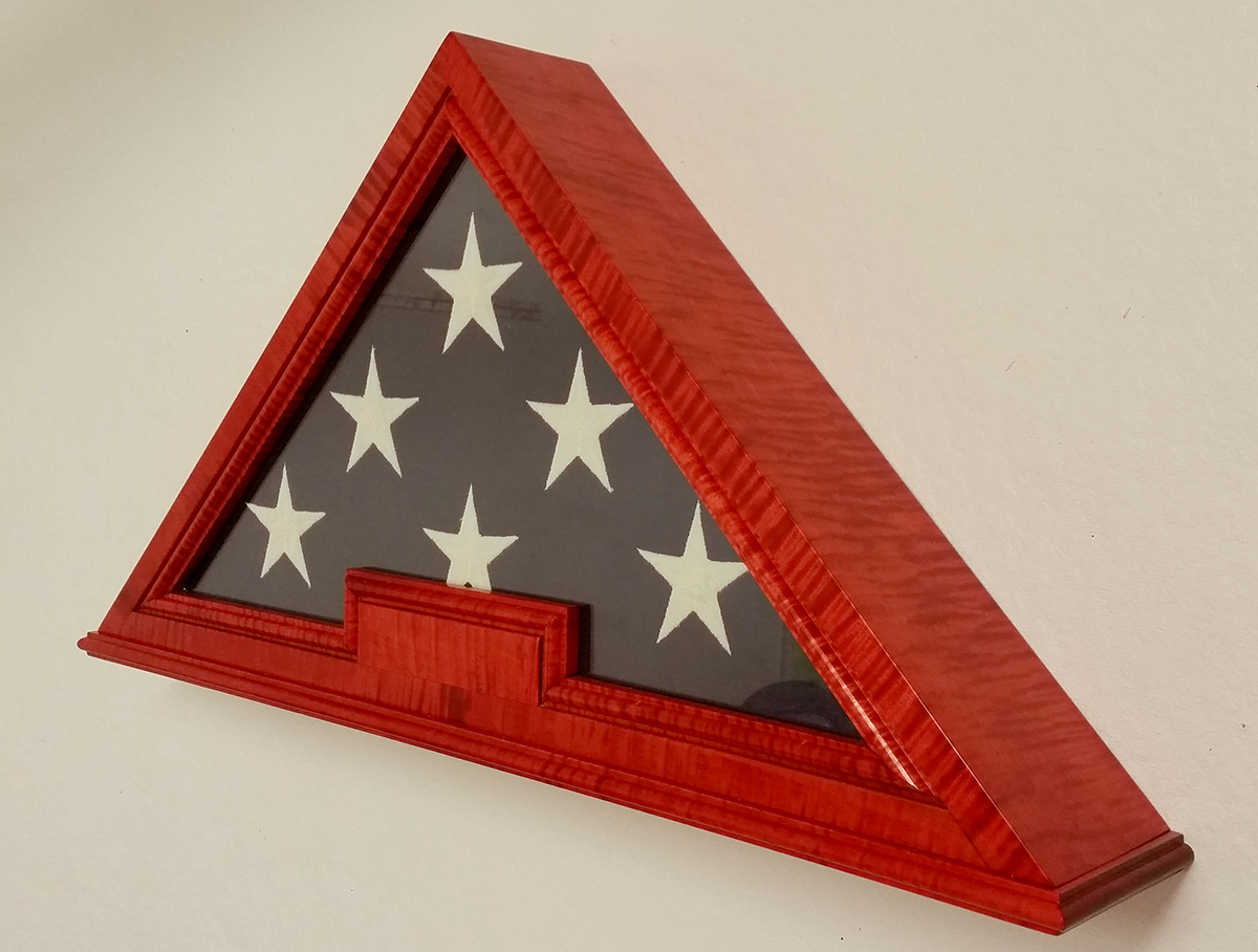 Custom US Flag Display Cases Boxes, Military Medals Display Cases