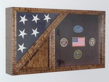 miltary flag box, display case, cremation urn.